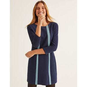 Boden Anita Ottoman Ribbed Colorblock Tunic Dress